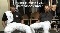 A humorous ad taken from a commercial that shows veterans Paul Konerko and Adam Dunn complaining about the actions of younger White Sox players. I thought the commercial was very funny and shows how it is a new era in White Sox baseball.