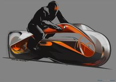 BMW Motorrad Vision Next 100 sketch by Evgeniy Zhukov