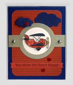 Card plane airplane clouds cloud heart aeroplane TE Plane awesome Taylored Expressions, MFT Blueprints 31 Die-namics #mftstamps Echo Park Jack and Jill paper pad collection - JKE