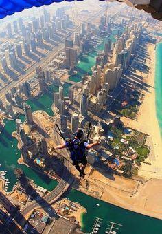 Nature Photography - Community - Google+ Skydiving over Dubai, United Arab Emirates.