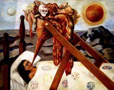 1945 Frida Kahlo Sans espoir, Without hope, Huile sur toile montée sur masonite, 28x36 cm. #Art #Mexico #deFharo