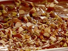 Chocolate Bark with Mixed Nuts and Dried Cherries recipe from Aaron McCargo Jr. via Food Network