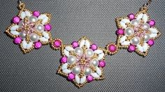 Beading4perfectionists : Pearl - Superduo necklace: putting parts together beading tutorial - YouTube