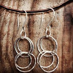 Large silver hoop earrings Silver Hoops, Silver Hoop Earrings, Silver Jewelry, Graphic Patterns, Inspiration, Design, Biblical Inspiration, Silver Jewellery, Design Comics