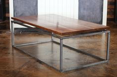 Floating top, Steel base coffee table