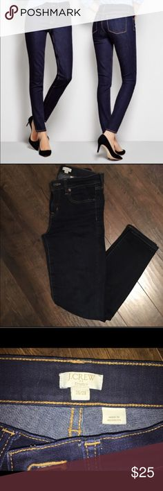 J. Crew Factory Dark Skinny Jeans Skinny stretch jeans from J. Crew Factory in dark wash. In Good used condition - lots of love left! Marked size 26/28. J. Crew Factory Jeans Skinny