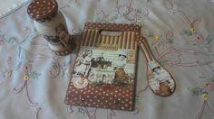 Είδη κουζίνας με ντεκουπάζ! Kitchen items with decoupage! Decoupage, Lunch Box