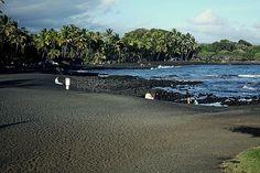 Black sand beaches, Hilo