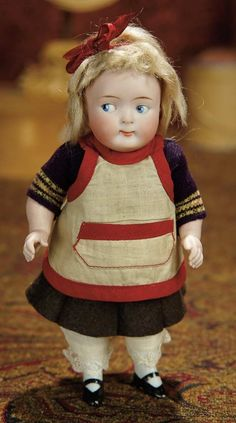The Memory of All That - Marquis Antique Doll Auction: 150 German All-Bisque Googly, 217, with Wonderful Costume