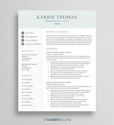 Free Word Resume Templates - Free Microsoft Word CV Templates