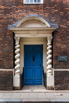Door of Clifton House, King's Lynn, Norfolk.