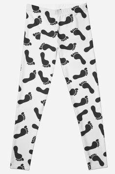 'Footprint Pattern' Leggings by Bithys Online Awesome Leggings, Best Leggings, Christmas Shopping, Footprint, Hoodies, Sweatshirts, Chiffon Tops, Baby Kids, Stationery