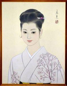 Tatsumi Shimura (1907-1980) - Bijin in Kimono