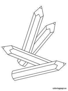pencils Coloring Pages Colouring Pages, Coloring Pages For Kids, Coloring Books, Art Studios, Clipart, Cross Stitching, Stencils, Printables, Embroidery