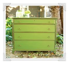 Painted vintage dresser In MMS Boxwood
