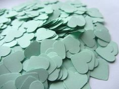 Mint Green Paper Heart Confetti Wedding Confetti by MurisAndAJ