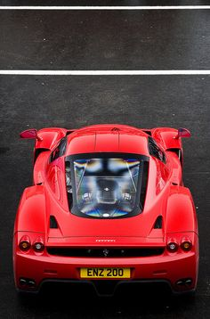 Ferrari Enzo with a perfect personalised number plate