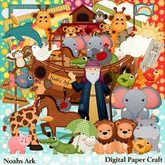 Noahs Ark Kit Scrapbook Kit Digital scrapbook by DigitalPaperCraft