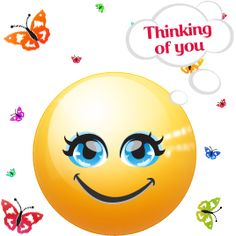 Bildresultat för thinking emoji Thinking Of You Today, Thinking Of You Quotes, Thinking Of Someone, Smileys, Smiley Emoticon, Emoticon Faces, Happy Emoticon, Smiley Faces, When I Miss You