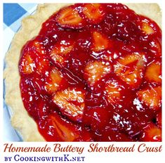 Cooking with K - Southern Kitchen Happenings: Easy Homemade Buttery Shortbread Crust Shortbread Pie Crust, Homemade Shortbread, Homemade Pie Crusts, Shortbread Cookies, Easy Pie Recipes, Pie Crust Recipes, Cooking Recipes, Cooking Tips, Perfect Pie Crust