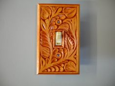 All hand carved solid wood switch cover plate by HOLIWOOD on Etsy, $22.00
