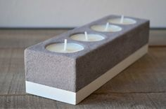 Concrete tealight candle holder by cementology on Etsy, €25.00