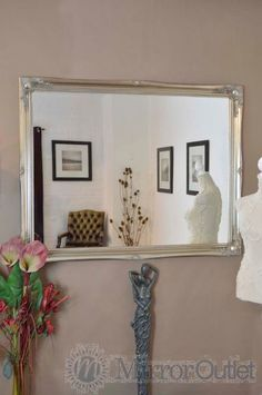 Mirror Outlet has the largest range of Antique Design Mirrors including Large Silver Shabby Chic Ornate Wall Big Mirror New X X Traditional Mirrors, Mirrors For Sale, Silver Age, Vintage Silver, Oversized Mirror, Shabby Chic, Antiques, Glass, Wall
