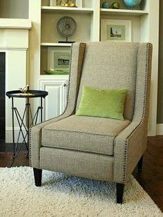 Isabella & Max Rooms: Adding Nail Head Trim to Upholstered Furniture. Tweed and Nail head trim
