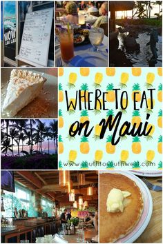 Where to Eat on Maui Hawaii is the food! If you're planning a trip to Maui, check out these top places to eat on the island! Trip To Maui, Hawaii Vacation, Maui Hawaii, Beach Trip, Vacation Trips, Vacation Ideas, Vacations, Hawaii 2017, Vacation Spots