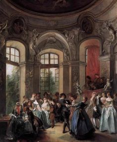 Nicolas Lancret (1690–1743)- Dance in a Pavilion -between 1730 and 1735  oil on canvas