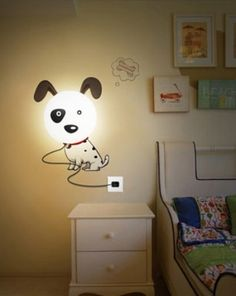 Brighten up your little master's room with this charmingly designed DIY Dalmatian Wall Lamp that's nothing but a full storehouse of cuteness. The lamp
