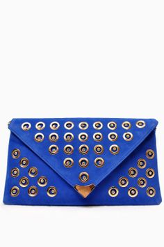 Size: Wide x High. Lined with internal pockets Jill Blue Embellished Envelope Clutch Bag Envelope Clutch, Clutch Bag, Blue Tops, Continental Wallet, Shoulder Strap, Closure, Pockets, Chain, Bags