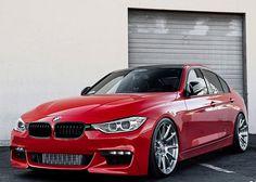 BMW 3 Series with HRE P43SC wheels | BMW | 3 series | Bimmer | BMW USA | BMW NA | red BMW