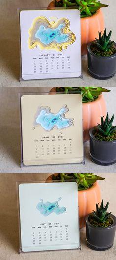 Topography Calendar