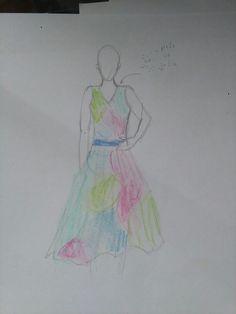 Ovo je crtez letnje haljine