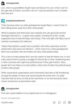 Yeah, kinda always taught Nazis = bad. No exceptions 🙄 not a difficult concept Anti Racism, Intersectional Feminism, Equal Rights, Faith In Humanity, Social Issues, Social Justice, Thought Provoking, In This World, Equality