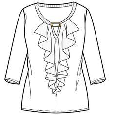 Elige los patrones de moda que emplean las marcas líderes Remera 2941 DAMA Remeras