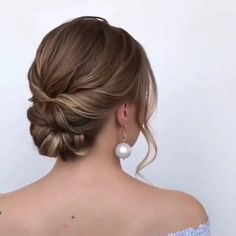 Bridal Hairstyles With Braids, Bride Hairstyles, Easy Hairstyles, Hairstyle Ideas, Engagement Hairstyles, Lower Bun Hairstyles, Up Hairstyles For Wedding, Updo For Short Hair, Straight Hair Updo