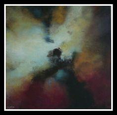 """Simonetta Bonadeo """" Cuore di tenebra - Heart of darkness"""" 70x70  Acrilico su tela"""