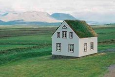 Iceland house-for rock painting