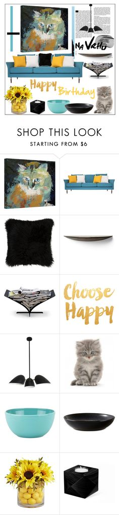 """""""Happy Birthday"""" by pat912 ❤ liked on Polyvore featuring interior, interiors, interior design, home, home decor, interior decorating, Natural by Lifestyle Group, AK47, Heal's and Kate Spade"""