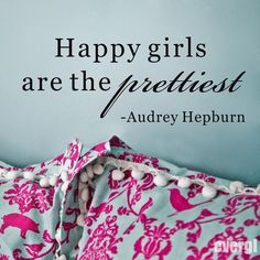 Happy Girl Are The Pretties Quote Art Vinyl Wall Stickers Decal Marul Decor | eBay