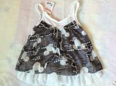 NEW***Mickey Toddler GIRL SINGLET TOP***Black***Size 0,1,2 or 3 available