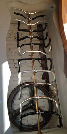 Redid handlebar display at Superb Bicycle.