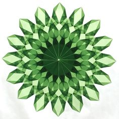 Green Window Star #12