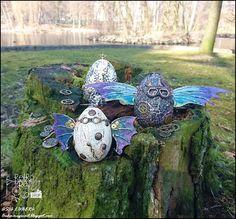 Retro Tutki: Świąteczne smocze jaja / Retro Tutorials: Easter dragon eggs