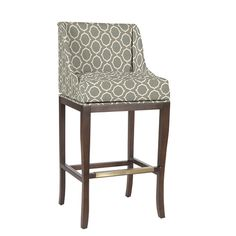 Marcello Counter Stool with Pewter Nailhead Trim
