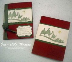 Come to Bethlehem stamp set from Stampin' Up! One of my favorite stamp sets.