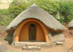 The Basotho people also known as Sotho, are Bantu people of the Kingdom of Lesotho (lusō& an enclave within the Republic of South Africa. Africa Continent, African House, Vernacular Architecture, Natural Building, Handmade Home, Bushcraft, Interior And Exterior, Culture, Traditional