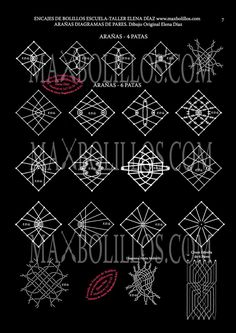 Patterns for art stringing. Hairpin Lace Crochet, Crochet Motif, Crochet Shawl, Crochet Edgings, Bobbin Lace Patterns, Bead Loom Patterns, Crochet Patterns, Romanian Lace, Bobbin Lacemaking